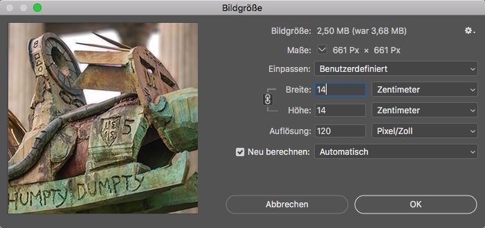 Screenhot Photoshop Bild berechnen